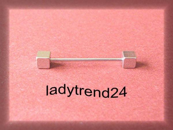 1 Wechselstab für Wechselring 22mm Würfel silber/platin 166