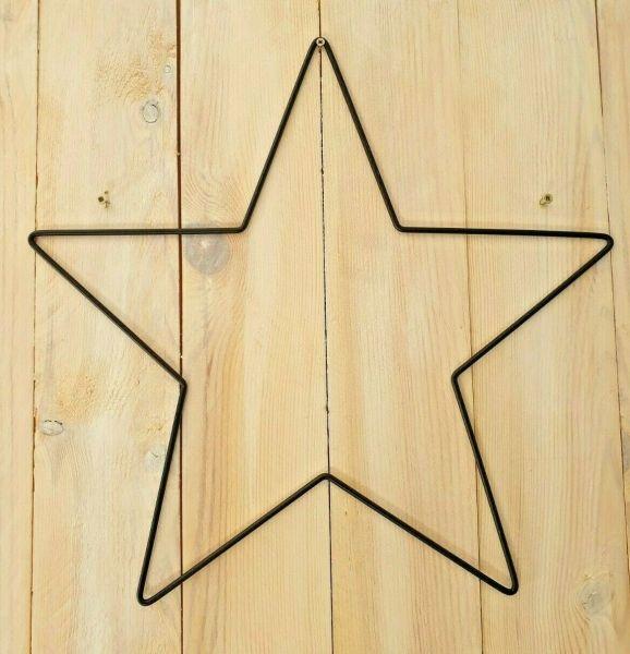1 Metall - Form Stern schwarz matt 40cm