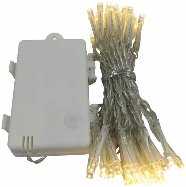 LED Lichterkette 24 Lämpchen + Timer + batteriebetrieben + warmweiss