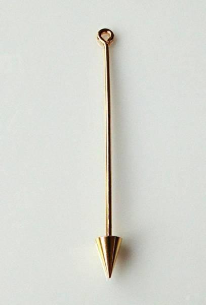 1 Wechselstab für Anhänger gold 60mm Spitze 0108
