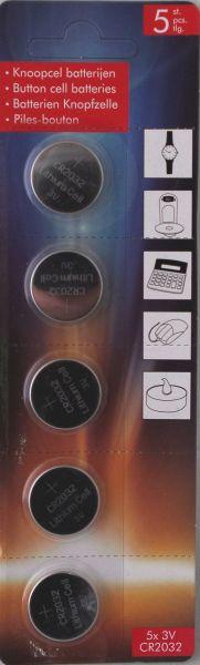 5 CR2032 Batterien 3V Knopfzelle