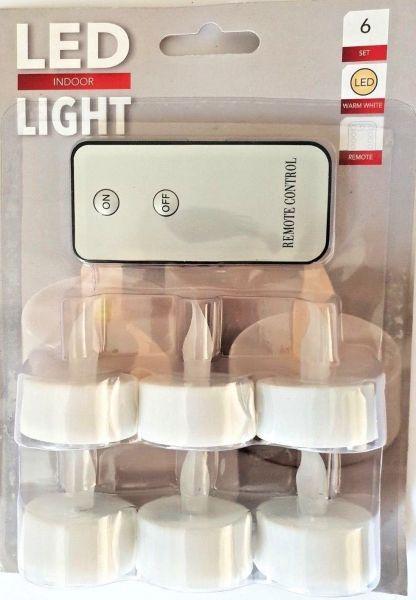 6er Set Teelichter mit Fernbedienung inklusive Batterien