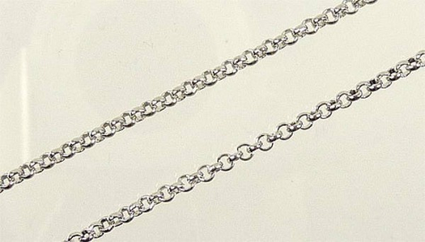 1 Gliederkette 100cm silber/platin 2mm Metall 09674