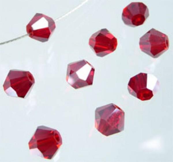 50 Kristallperlen 4mm bicone rot 4788