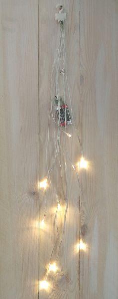 8-er LED Bündel-Lichterkette mit Timer warmweiß - Batteriebetrieb