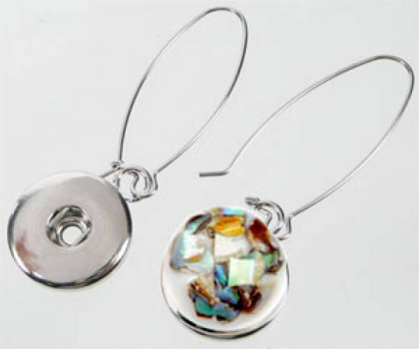 1 Paar Double Bead Click - Ohrringe silber/platin