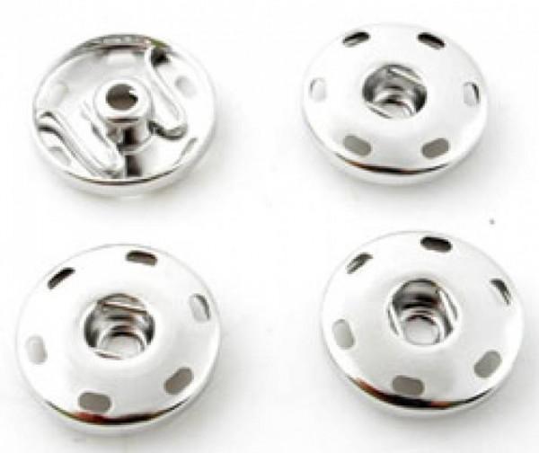 1 Druckknopfunterteil zum Annähen für Double Beads Click silber/platin 13862