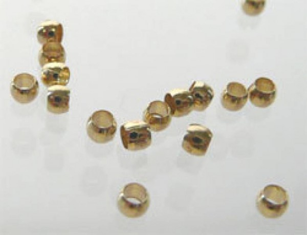 100 Quetschperlen 2mm gold 06834-Copy