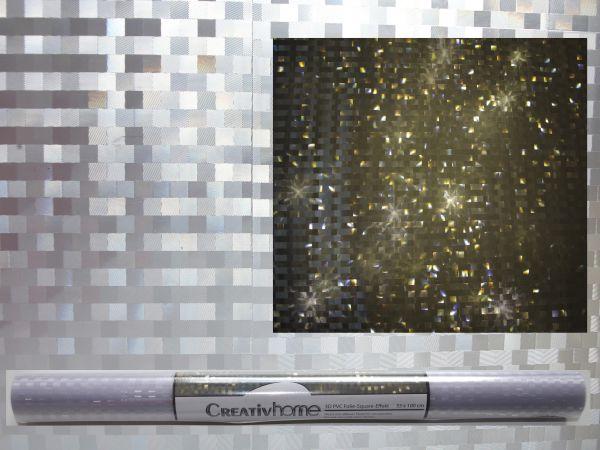 Lichteffekt Folie 3D Stern Quadrat Hologramm 33cm x 100cm