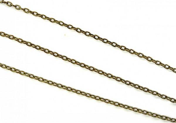 1 Gliederkette 100cm altgold 4,4 x 2,9mm 04208