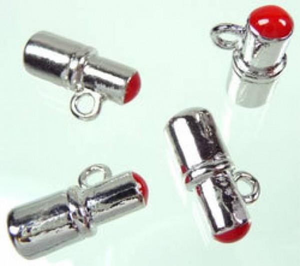 1 Anhänger Charms Lippenstift rot 02777