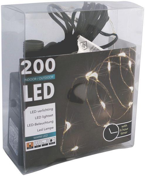 Led draht lichterkette 200er tropfen strombetrieben 1 for Led draht lichterkette