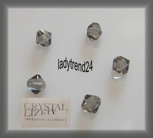 1 Original Swarovski Kristall 6mm black diamond 215