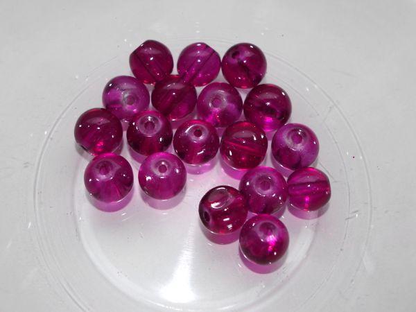 50 Glasperlen fuchsia 10mm Perle 16292