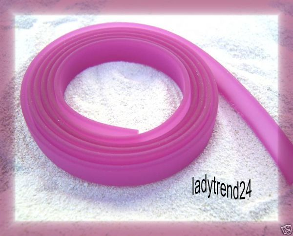 1m Kautschukband - 10mm - fuchsia 19