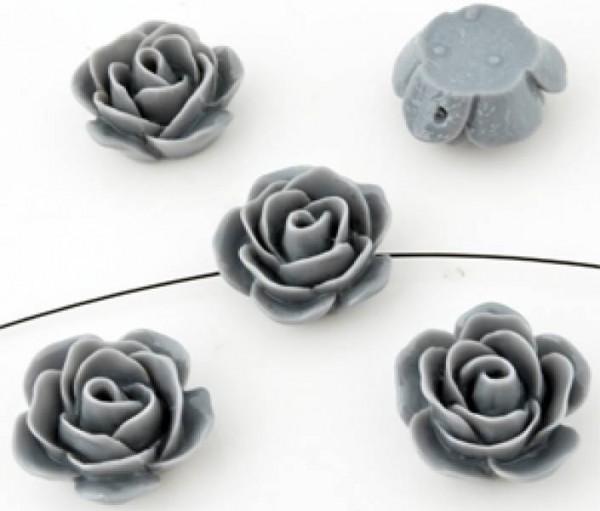 1 Rose 23x11mm grau Kunststoff 09921