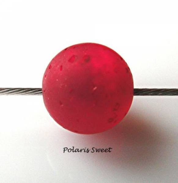 5 Sweet Polarisperlen 10mm siam rot matt
