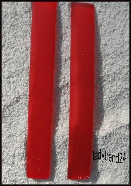 2 x 7,5cm Kautschukband - 10mm - rot 7201