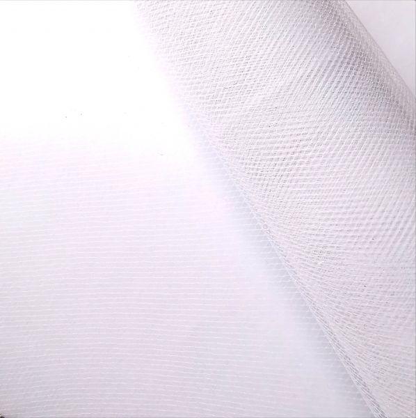"""1m Tüll weiß / transparent 15cm breit für Glücksfee """"Wilma"""""""