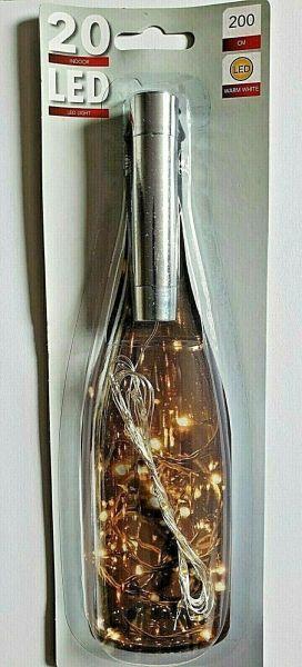 20er LED Flaschenlicht Stab Korken Drahtlichterkette