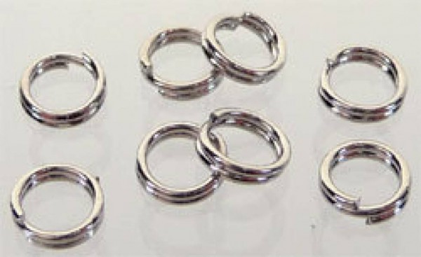 100 Spaltringe silber/platin 5mm Metall 08594