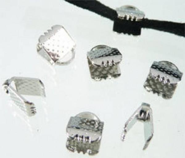 10 Bandklemmen 6mm silber/platin 05633