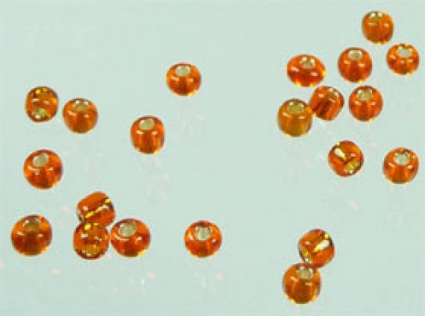 Rocailles 3mm 25g orange 02222