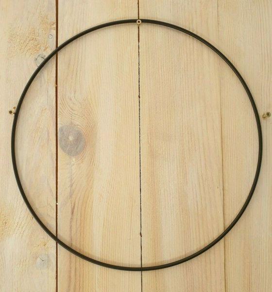 1 Metall - Form Ring 20cm schwarz