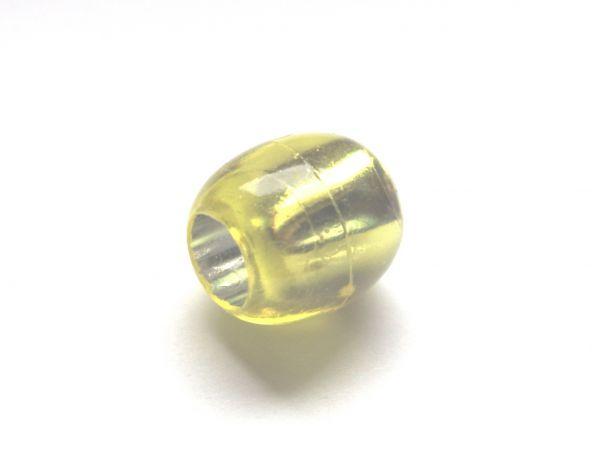 10 Beads 13,5x12mm Olive Kunststoff Silberfolie kiwi 025275