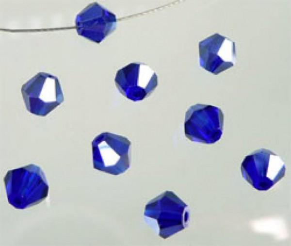 50 Kristallperlen 4mm bicone blau 4792