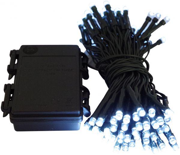 LED Lichterkette 96 Lämpchen + Timer + Batteriebetrieb kaltweiss