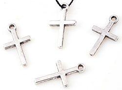 1 Anhänger Kreuz 18x10mm silber/platin Metall Charms 16181