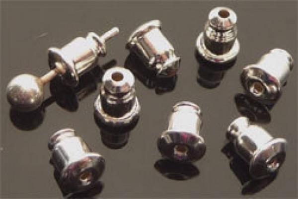 20 Ersatzstöpsel für Ohrstecker silber/platin 08590