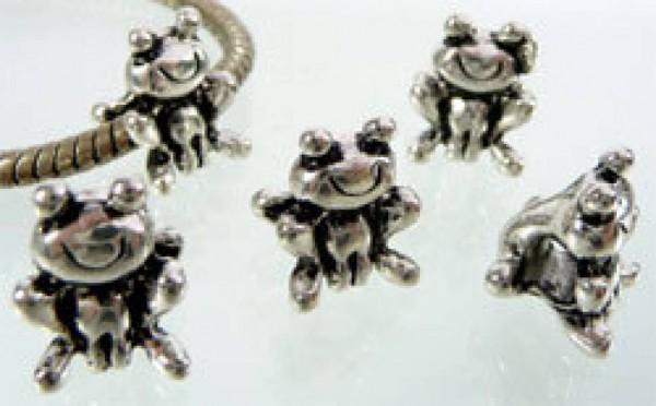 1 Bead silber Frosch 06550