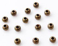 30 Metallperlen 4mm altgold 12705