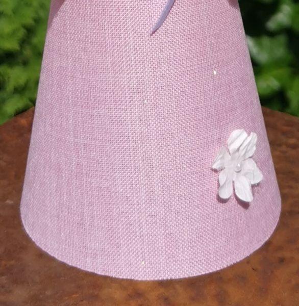 """1m Dekostoff rosa 20cm breit für Glücksfee """"Lotte"""""""