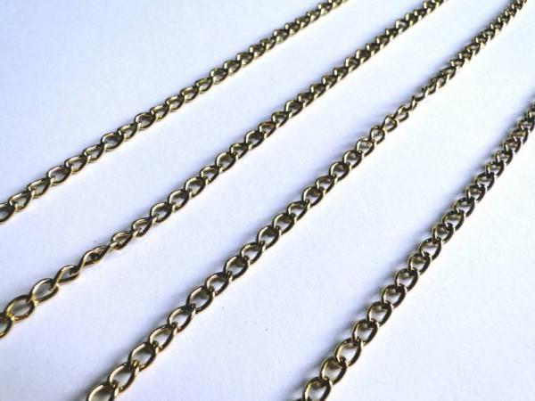 1 Gliederkette 80cm altgold 2,5mm 14358