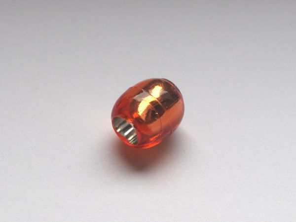10 Beads 13,5x12mm Olive Kunststoff Silberfolie orange 025271