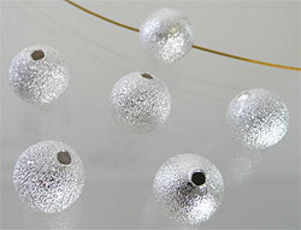 20 Metallperlen 6mm silber Stardust 08481