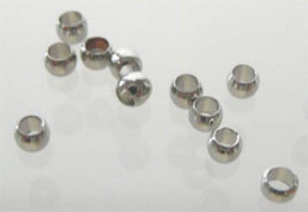 100 Quetschperlen 2mm silber/platin 16978