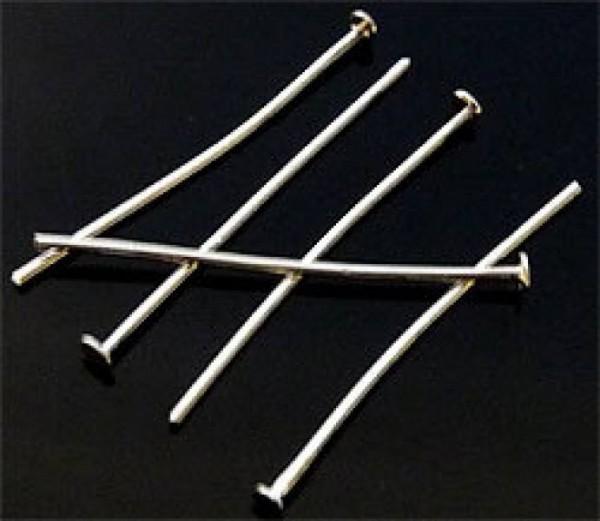 50 Nietstifte 40mm silber Metall 07776