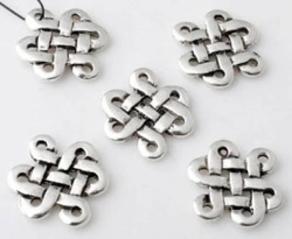 1 Spacer Keltisch Metall silber/platin 15mm 11008
