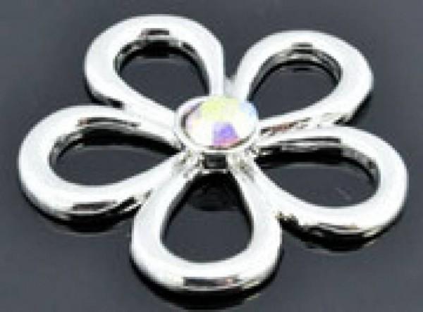 1 Spacer Blume 29mm silber Zwischenteil 08853