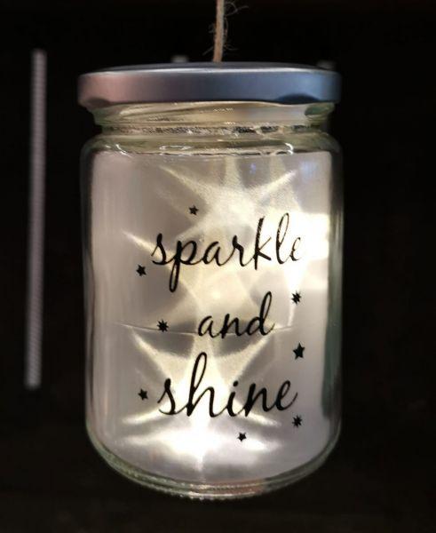 LED Glas Drahtlichterkette Stern Sparkle and shine