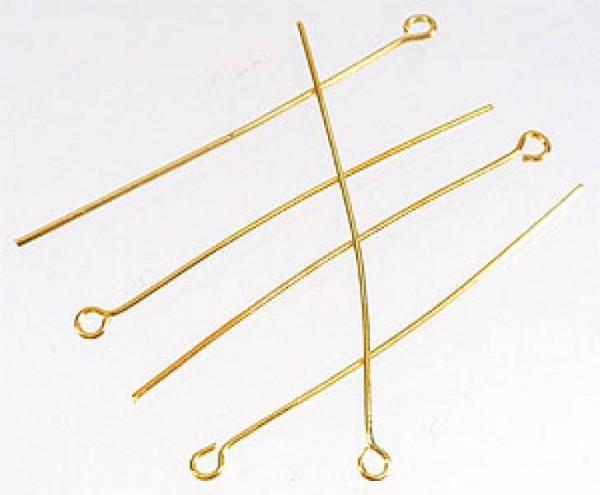 100 Kettelstifte gold 40mm 08641