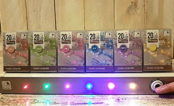 20-er Micro LED Lichterkette verschiedene Farben mit Timer