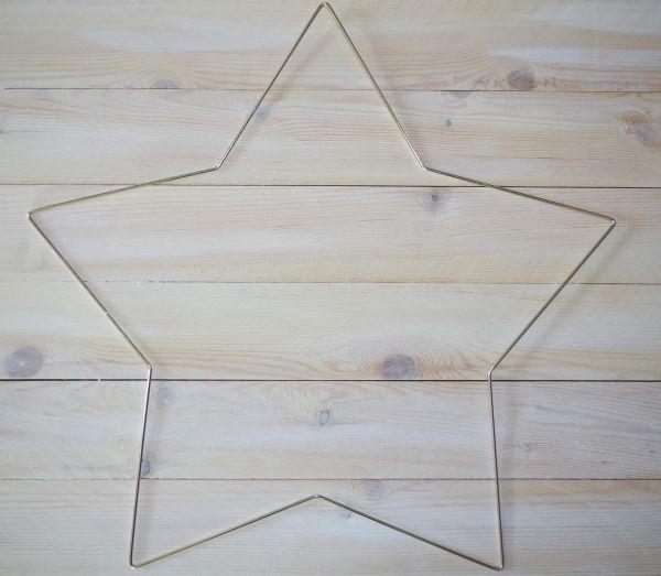 1 Metallform Stern 60cm silber