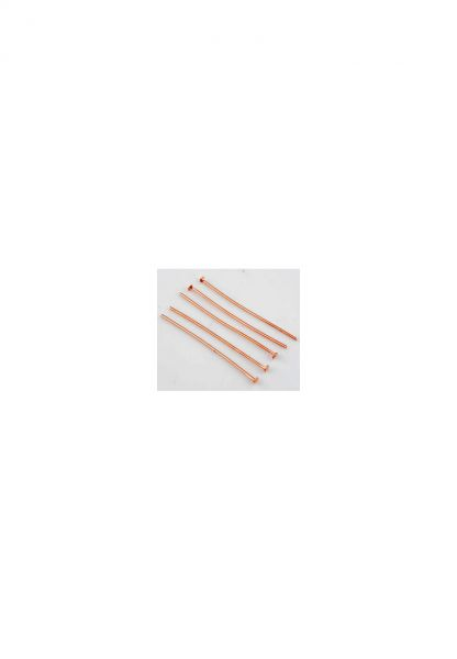 50 Nietstifte 40mm roségold Metall 11282