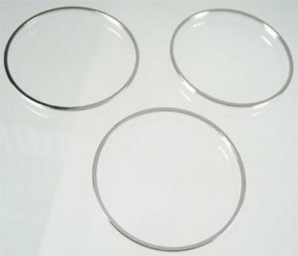 10 Spacer 35mm Ring Zwischenteil Metall silber/platin 05302