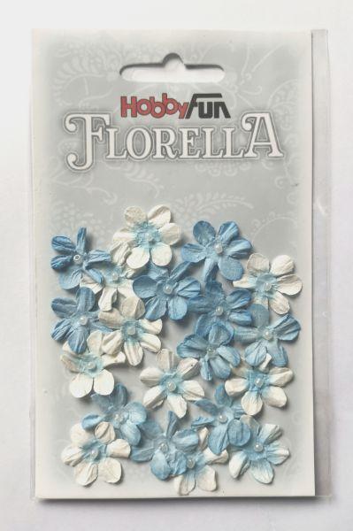 """20 Papierblüten blau für Glücksfee """"Smilla"""""""